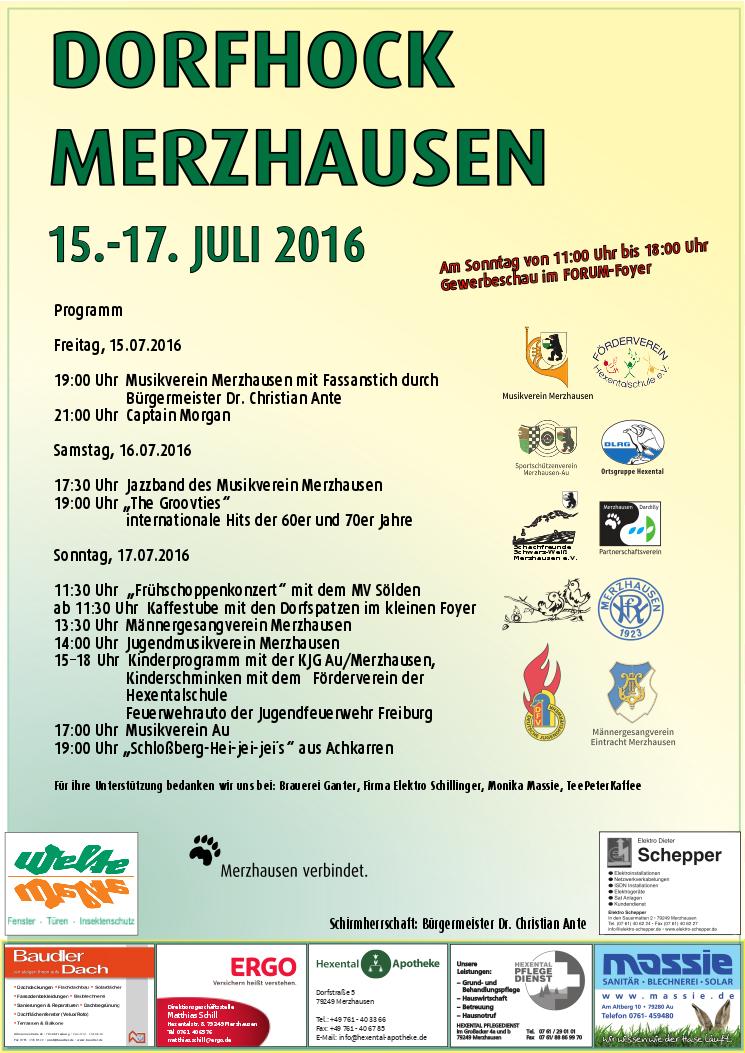 Dorfhock Merzhausen vom 15.-17- Juli